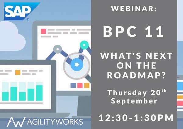 AgilityWorks Webinar BPC 11 SAP Analytics